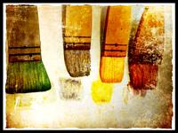 my studio brushes, photo by Lorraine Healy ©2012