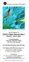 EAFA abstract show flyer